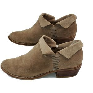 Dolce Vita Suede Ankle Bootie Pull On Style 7.5